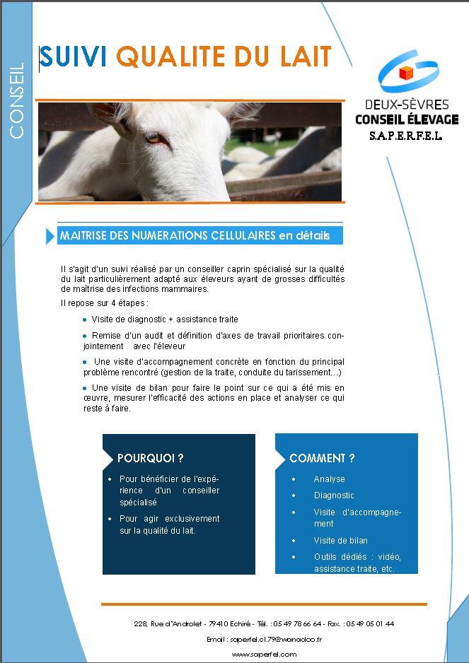 Suivi qualité du lait