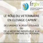 Le rôle du vétérinaire en élevage caprin